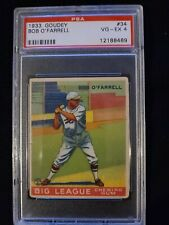 1933 Goudey #34 BOB O'FARRELL Cardinals PSA 4 VG-EX *Check out my other listings