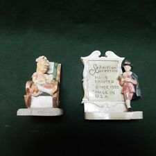 2 Sebastian Miniatures Sebastian Collection Sign,plus Little Mother hand painted