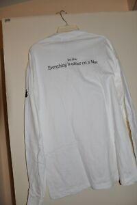 Brand NEW Apple logo Long Sleeve Tee-Shirt Vintage Collectible original Rare NEW