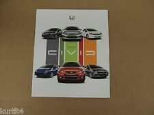 2012 Honda Civic Sedan Coupe Hybrid Si DX LX EX sales brochure dealer catalog