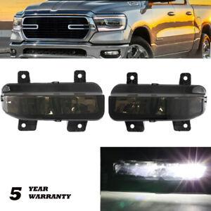 For Dodge Ram 1500 2500 3500 2019-2021 LED Fog Lights Driving Lamps Pair Black