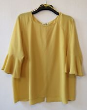 Papaya Top Bell Sleeves Mustard Size 24