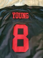 BRAND NEW WITH TAGS RARE BLACK SAN FRANCISCO 49ERS THROWBACK JERSEY SIZE XL 52