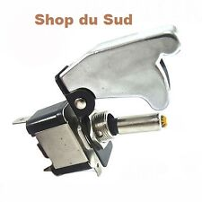 SWITCH WITH HOOD CHROME AUTO BOAT TUNING RALLY DUB 12 VOLT - 20A NEW