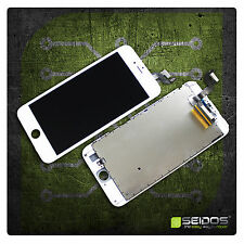 Display LCD für iPhone 6S Plus RETINA Glas Scheibe 3D Bildschirm WEISS WHITE TOP