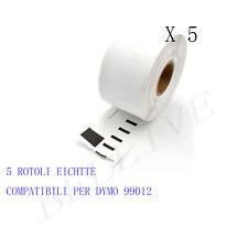 5 Etichette per DYMO 99012 89x36mm LABELWRITER 310 320 330 330 Serie 330 Turbo