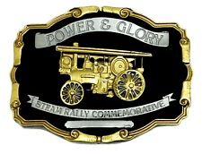 Steam Engine Belt Buckle Power & Glory Black & Gold Authentic Dragon Designs