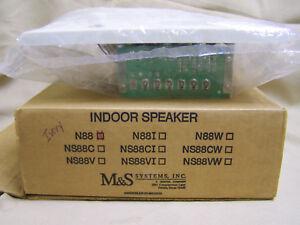 M&S Systems Model N88 Ivory Indoor Door/Room large Intercom Speaker N481