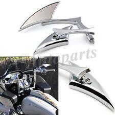UNIVERSAL CHROME BLADE MOTORCYCLE REARVIEW SIDE MIRRORS FOR SUZUKI HONDA 8-10MM