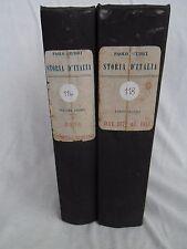 STORIA D'ITALIA Vol. 1 e 5 Giudici ed. Nerbini Firenze 1940 Libro antico storia