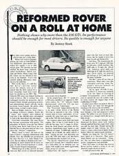 1991 Rover 216GTi  -  Classic Original Article J30