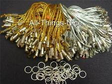 Art Craft GOLD SILVER String Cord Mobile Phone Charm Dangle Strap Lariat 50
