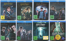 HARRY POTTER 1 2 3 4 5 6 7.1 & 7.2 BLU-RAY STEELBOOK KOMPLETTSET NEU OVP SEALED
