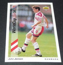 JOHN JENSEN ARSENAL DANMARK FOOTBALL CARD UPPER DECK USA 94 PANINI 1994 WM94