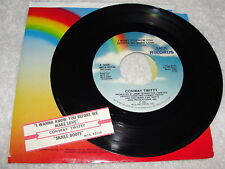 "Conway Twitty ""I Want To Know You Before We Make Love"" 45 RPM,1987, 7"", +Jukebox"