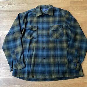 Vintage Pendleton Woolen Mills Plaid Shirt Size Large
