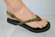 Fergalicious by Fergi Sandals Flats Shoes Womens Sz 6 Strappy Snakeskin Print