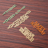 Birthday Text Cutting Dies Stencil DIY Scrapbooking Album Card Embossing Crafts