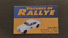 Certificat Voiture De Rallye De Collection « Jaguar Mk II  »TBE.