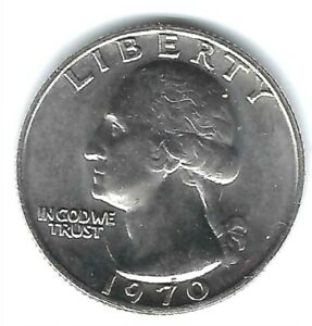 1970 Philadelphia Brilliant Uncirculated Washington Quarter Coin!