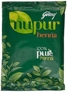 Godrej Nupur Henna Mehandi Powder 100% Natural Hair Color Dye Amla