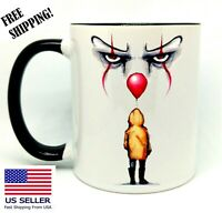 IT, Halloween, Birthday, Christmas Gift, Black Mug 11 oz, Coffee/Tea