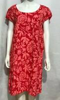 Ladies Floral Dress Italian Lagenlook Panel Insert Scoop Neck Pocket Linen New