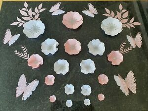 Paper Flowers with butterflies