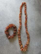 Collier + BRACELET EN AMBRE BRUTE   Amber  Necklace 98 GRAMS