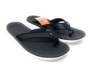 Nike Bella Kai Womens Black A03622-002 XV Slip On Leather Thong Wmns 11 Men 9.5