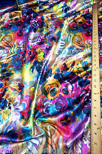 "Art Paint Floral Nano Print Faux Silk Stain Fabric 60""W Drape Dress Scarf"