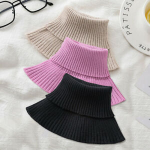 Men,Women Winter Turtleneck Elastic False Collar Scarf Neck Warmer Accessories a