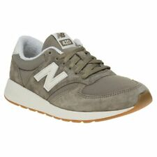 New Womens New Balance Green Khaki 420 Suede Trainers Retro Lace Up