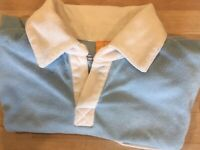 KanaBeach Elegant Soft Top M. In Light Blue & White Collar Excellent Condition