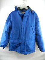 Duluth Trading L Large Men's Jacket Blue Fleece Pocket Long Sleeve Pocket