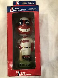 MIB Cleveland Indians Collectible Bobbing Head Doll / Twins Enterprise