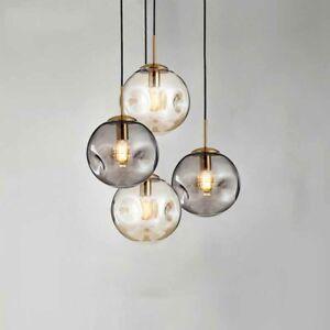 Modern Glass Globe Pendant Light Ball-Shape Lampshade Ceiling Hanging Lamp New
