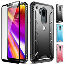 LG G7 Rugged Case Shockproof Cover [w/Free Tempered Glass Screen Protector]