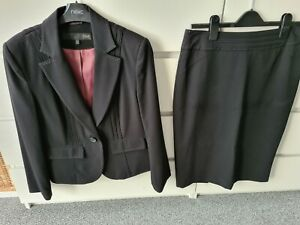 Ladies Next Black Skirt Suit Office Work Size 12 Petite