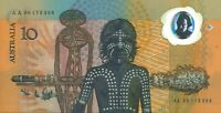 Australian First Prefix $10 AA00 179366 +Ovpt Bicentenary Polymer Banknote issue