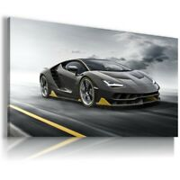 LAMBORGHINI CENTENARIO BLACK Cars Wall Art Canvas Picture A274 MATAGA