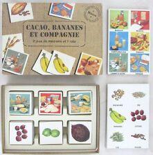 Cacao, Bananes et Compagnie. 2 jeux de mémoire et 1 loto 4 à 8 ans 2 à 4 joueurs