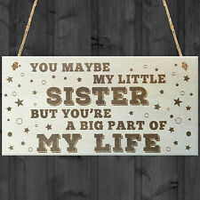 Red Ocean Little Sister Big Part of My Life Wooden Hanging Plaque Love Gift