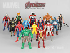14x Marvel The Avengers Super Hero Hulk Captain Batman Figure Action Kid Toy 7''