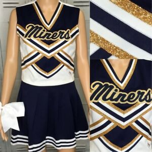 Cheerleading Uniform Vintage Miners Adult Sm