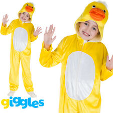 Girls & Boys Duck Costume World Book Day Week Fancy Dress Outfit Jumpsuit