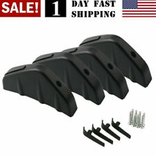 Us! 4Pcs Universal Car Rear Bumper Lip Diffuser Shark Fins Splitter Accessories
