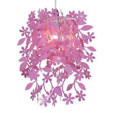 Abat Jour Suspension Lustre Fleurs en Cascade Rose Fuchsia 15486