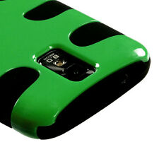 Samsung Galaxy S II 2 T989 Hybrid FISHBONE Silicone Phone Case Dark Green Black