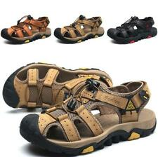 Mens Beach Sandals Shoes Breathable Slip on Size Plus Slingback Flats Hollow out